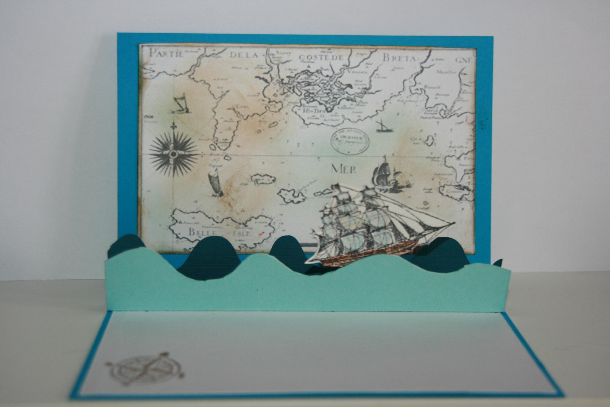 Carte anniversaire thème mer