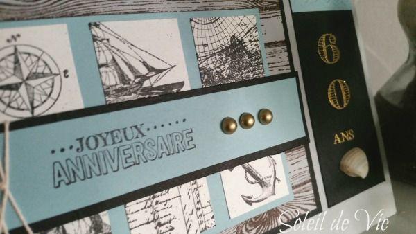 Carte anniversaire masculine stampin'up