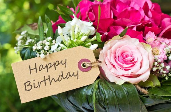 Un message de joyeux anniversaire
