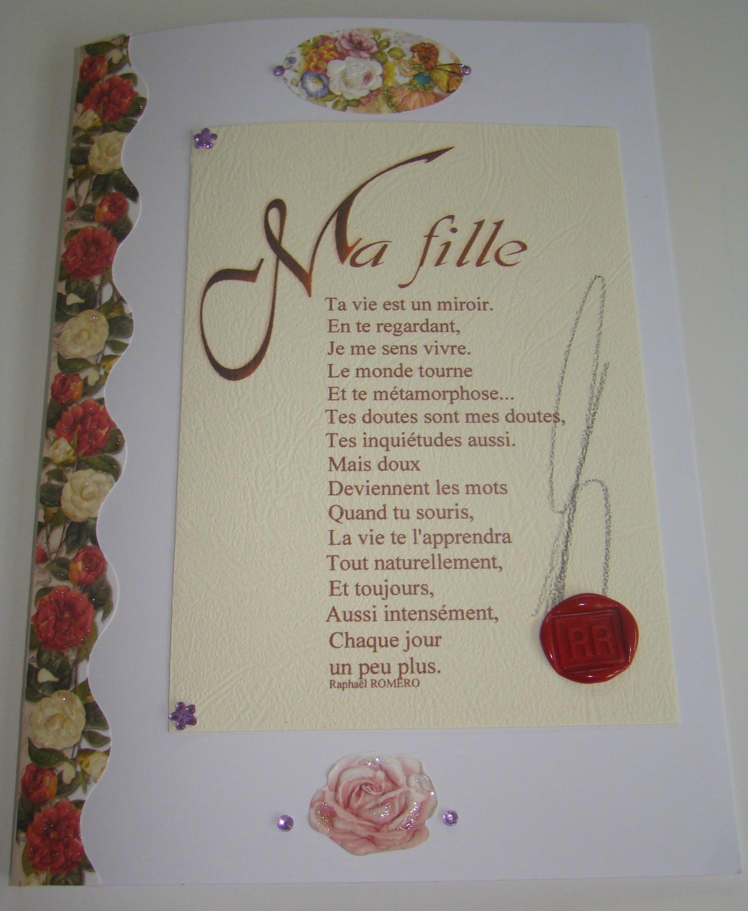 Texte pour un anniversaire de sa fille