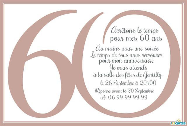 Modèle texte gratuit pour anniversaire 50 ans