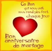 Carte d anniversaire de mariage