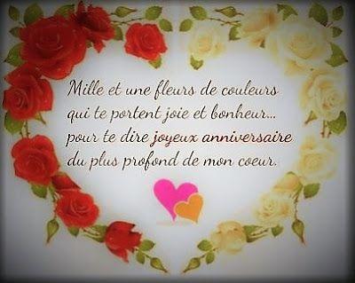 Message anniversaire fleur
