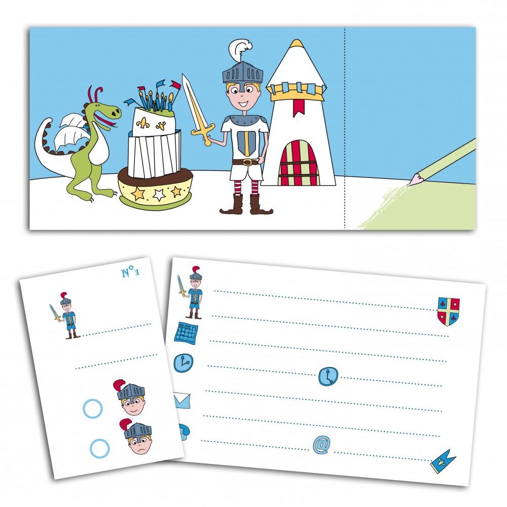Carte anniversaire chevalier gratuite