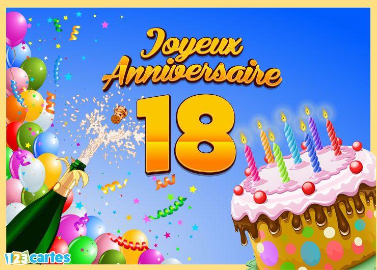 Carte d anniversaire 18ans