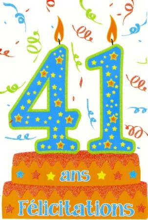 Texte anniversaire pour 41 ans