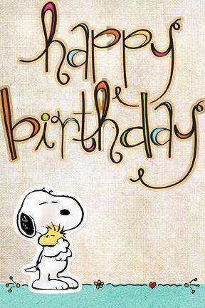 Carte anniversaire snoopy gratuite