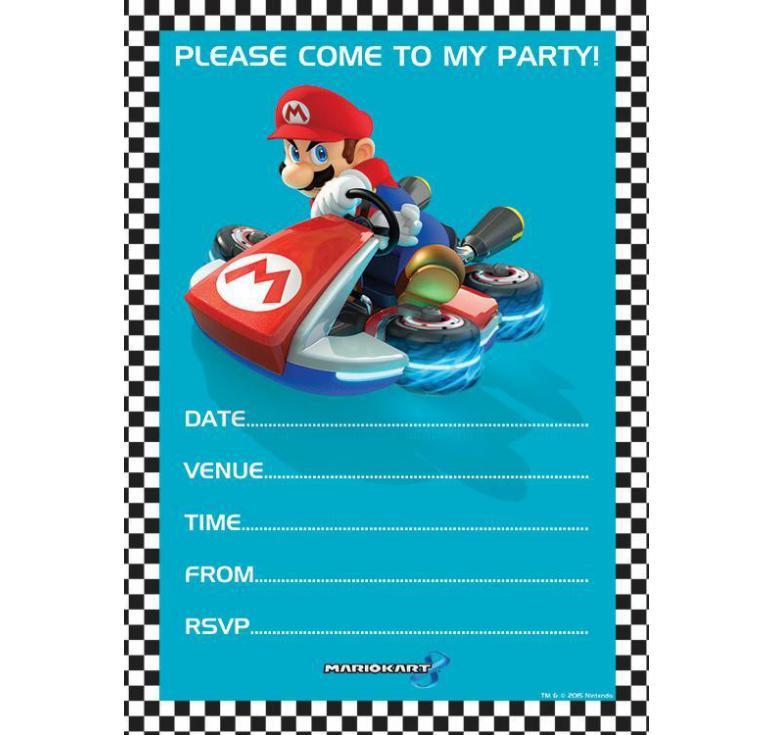 Carte Invitation Anniversaire A Imprimer Mario Bros Elevagequalitetouraine