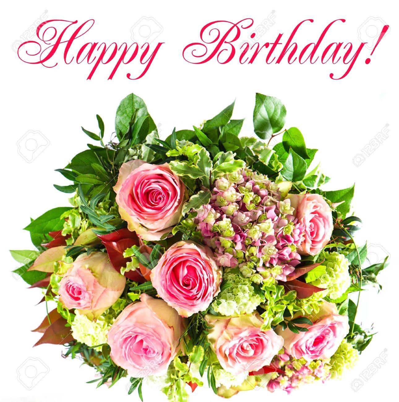 Carte anniversaire bouquets