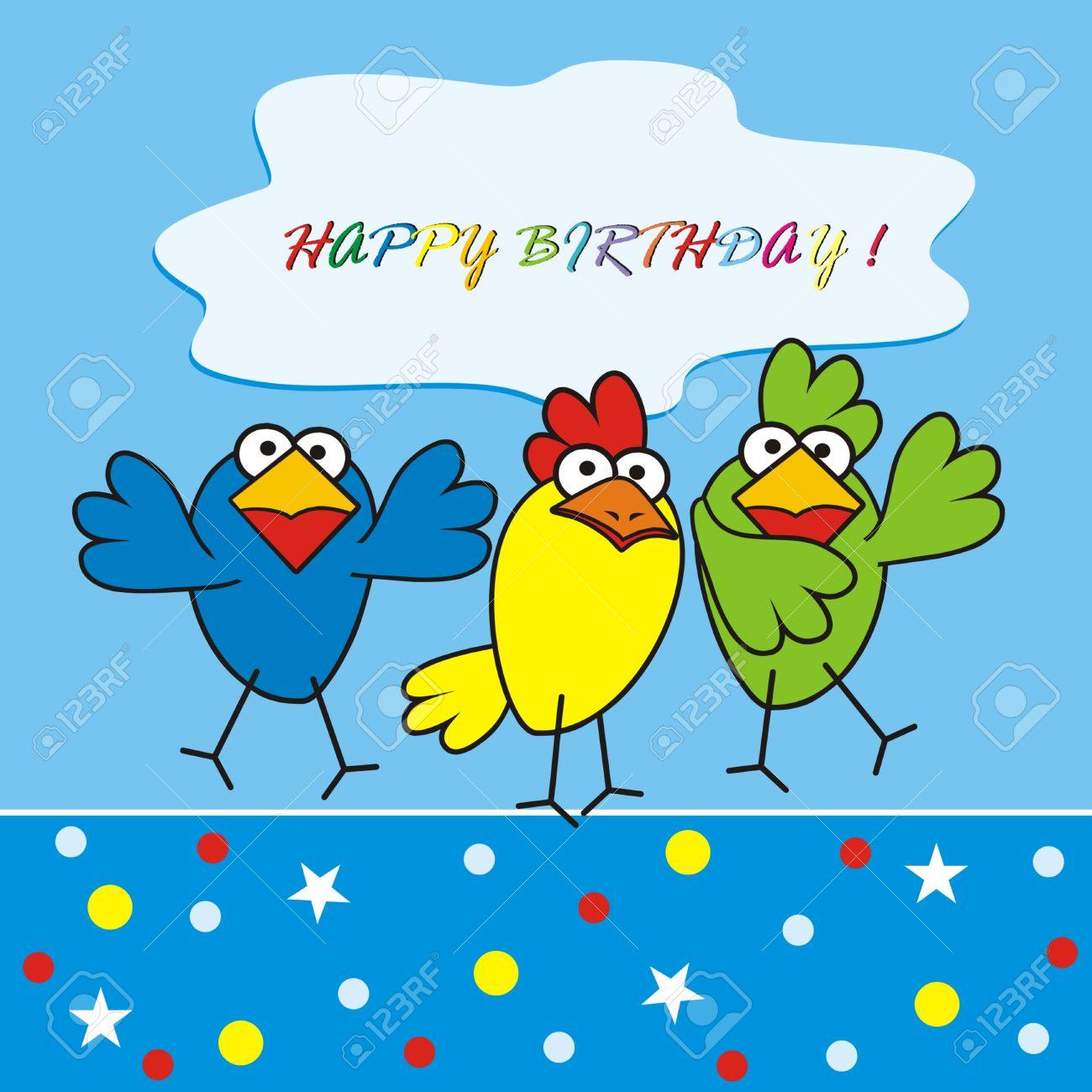 Carte anniversaire poulette