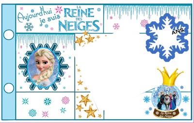 Reine des neiges carte anniversaire