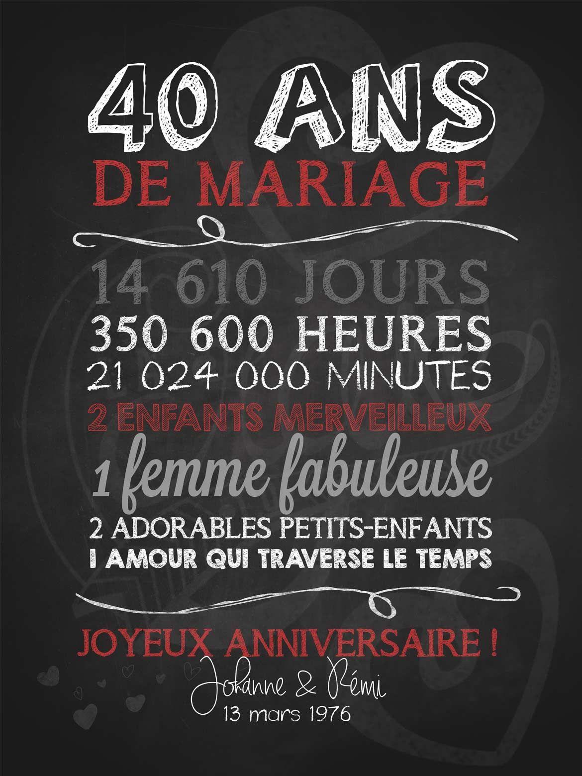 Message pour anniversaire mariage 65 ans