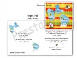 Carte invitation anniversaire madras