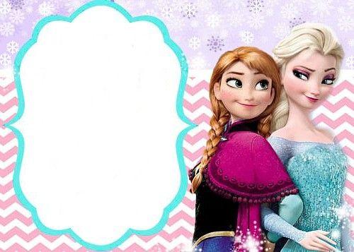 Carte invitation anniversaire reine des neiges gratuite à imprimer