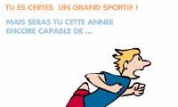 Carte anniversaire humoristique sportif