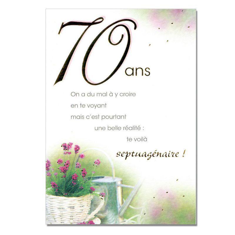 Texte anniversaire 70 ans pere