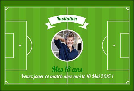 Carte invitation anniversaire football barcelone