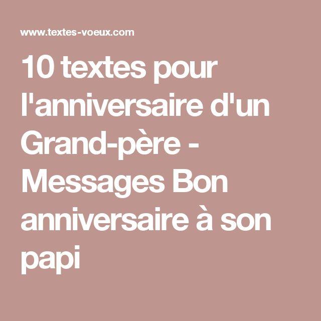 Texte anniversaire pour mon papy