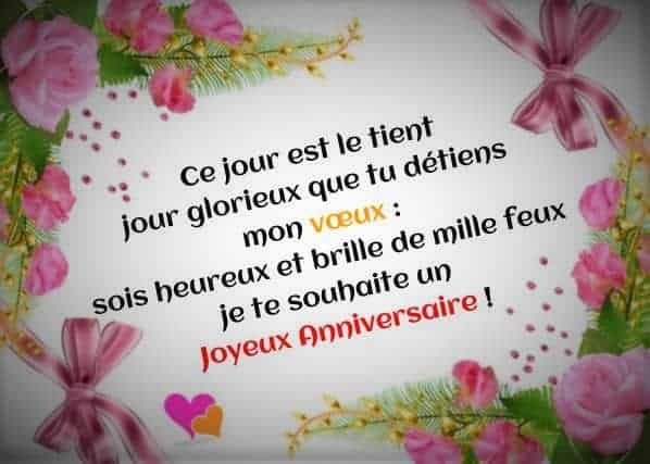 Message amical anniversaire