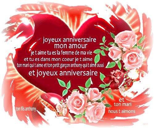 Message anniversaire mon amour