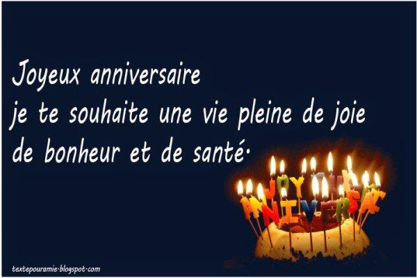 Message. anniversaire