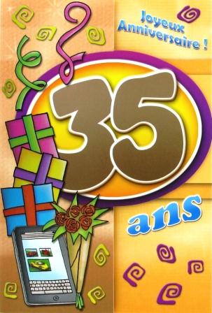Message anniversaire 35 ans fille