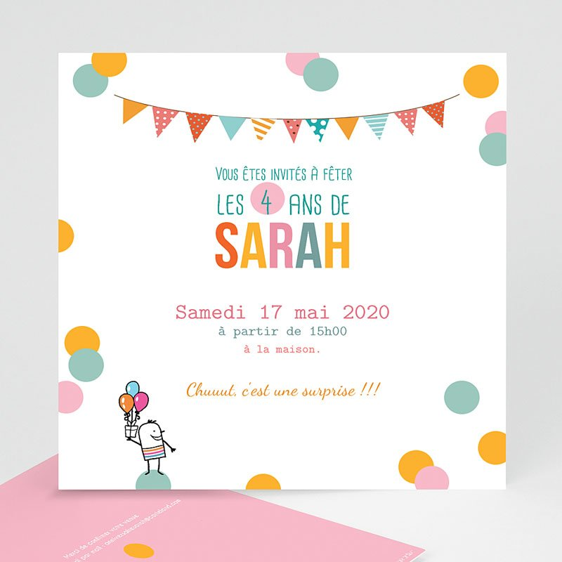 Texte anniversaire pour fille de 4 ans