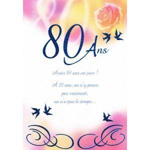 Textes carte anniversaire 80 ans