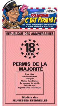 Message anniversaire 18 ans majorité