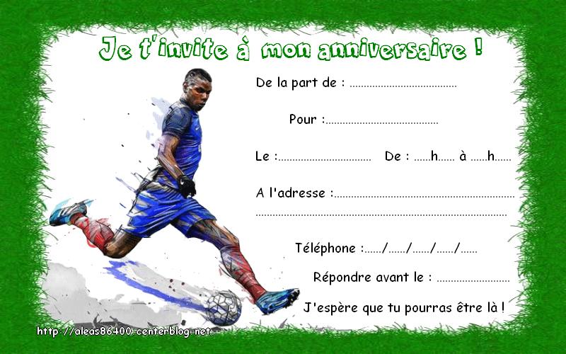Carte anniversaire joueur de foot
