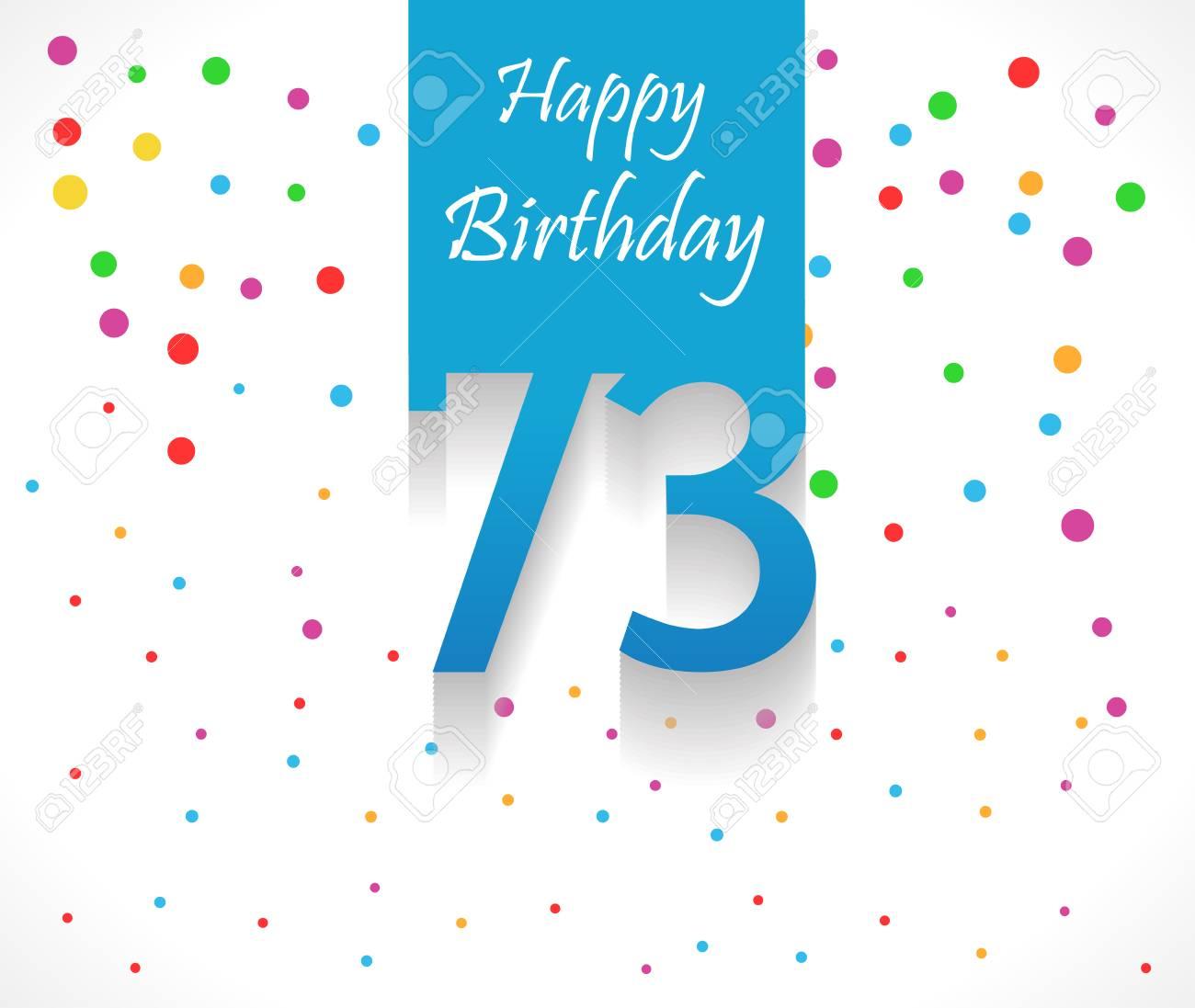 Carte joyeux anniversaire 73 ans
