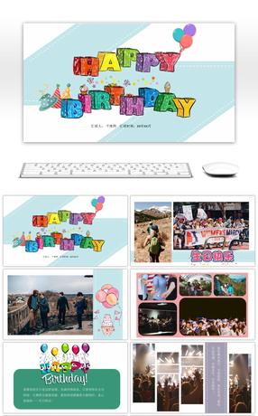 Modele carte anniversaire powerpoint