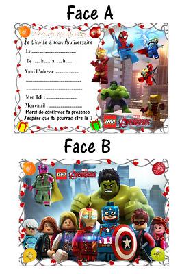 Carte Anniversaire Lego Marvel Elevagequalitetouraine