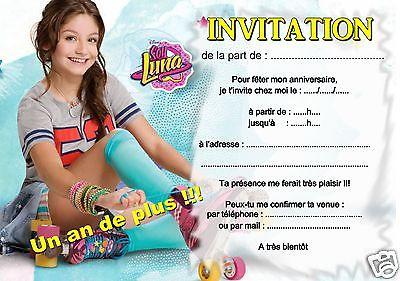 Carte invitation anniversaire soy luna gratuite