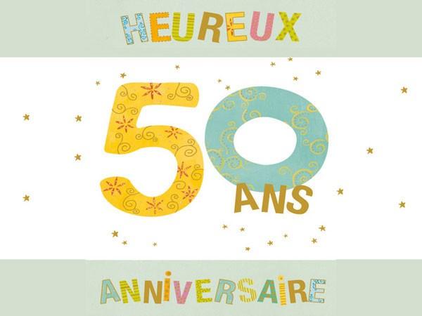 Carte anniversaire virtuelle femme 50 ans