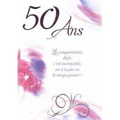 Carte texte anniversaire 50 ans