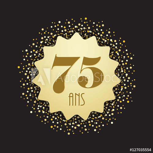 Carte joyeux anniversaire 75 ans