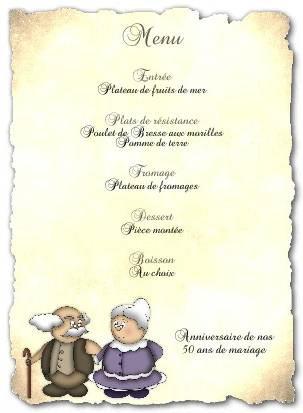 Texte anniversaire 50 ans de mariage pour un couple