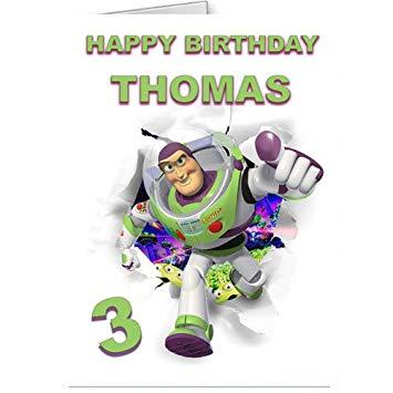 Carte anniversaire buzz l'éclair