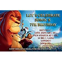 Carte invitation anniversaire roi lion