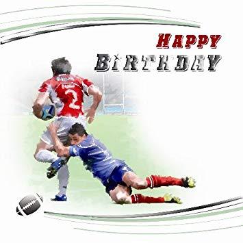 Carte anniversaire pour rugbyman