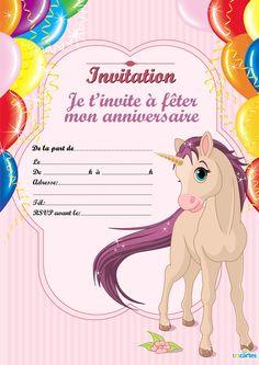 Carte invitation anniversaire gratuite avec photo