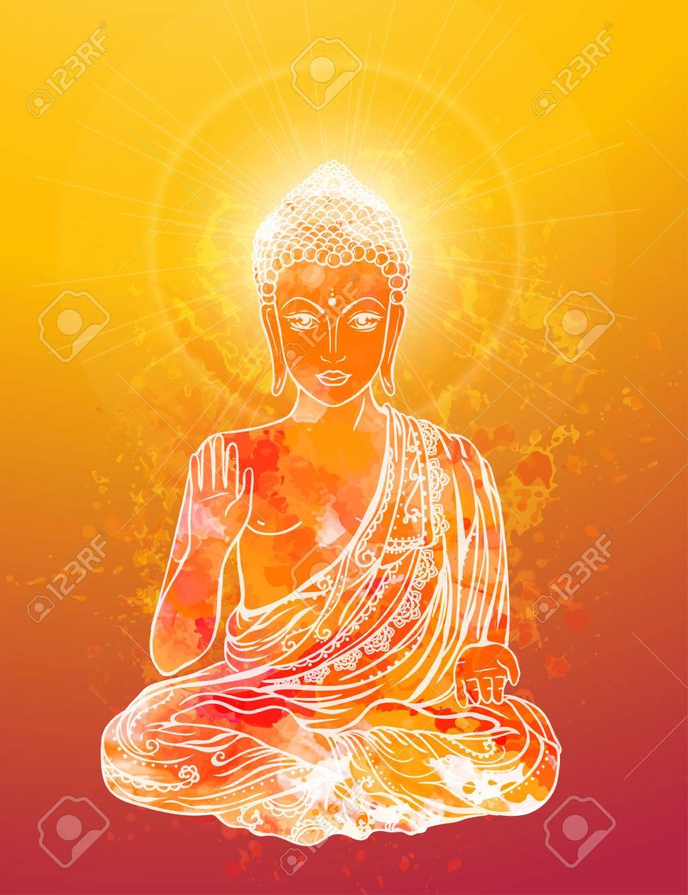 Carte anniversaire avec bouddha