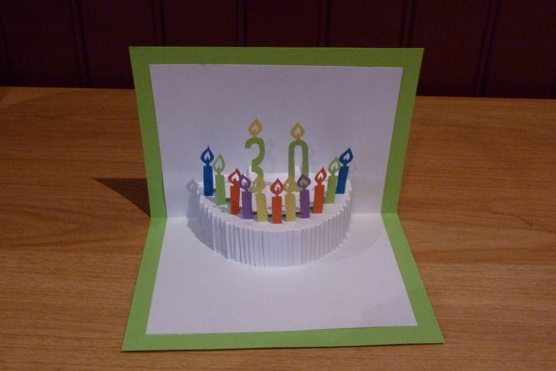 Carte pop up anniversaire facile