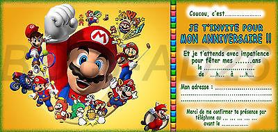 Carte Invitation Anniversaire Mario Gratuite Imprimer Elevagequalitetouraine