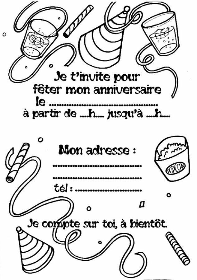 Carte anniversaire en noir et blanc à imprimer