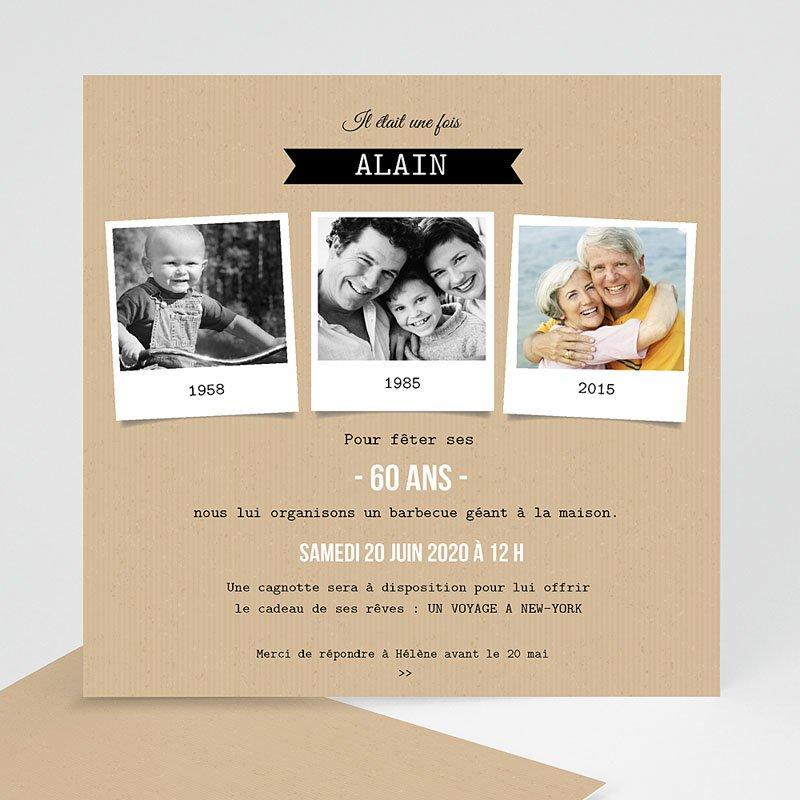 Carte invitation anniversaire famille
