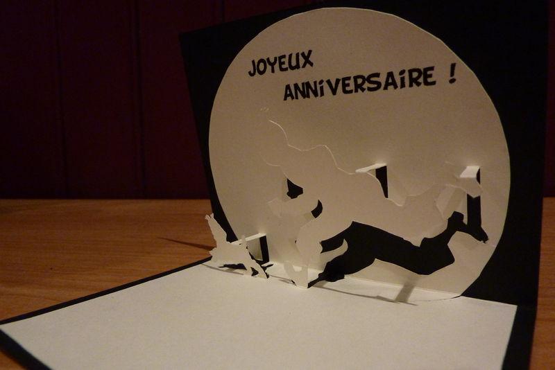 Tintin carte anniversaire