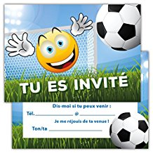 Image carte anniversaire football
