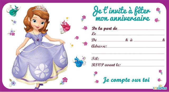 Carte D Invitation Anniversaire Fille 5 Ans A Imprimer